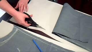 ✂ Como hacer el corte y el patron del jeans (parte 2)
