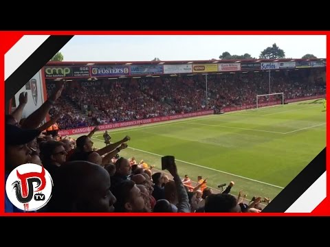 IBRAHIMOVIC CHANT AT BOURNEMOUTH AWAY AFTER DEBUT GOAL | MAN UNITED 3-1 BOURNEMOUTH
