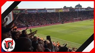 IBRAHIMOVIC CHANT AT BOURNEMOUTH AWAY AFTER DEBUT GOAL   MAN UNITED 3-1 BOURNEMOUTH