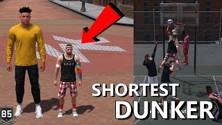 SHORTEST DUNKER EVER! 5'7 GOAT? CRAZY CONTACT DUNKS!? NBA 2K18