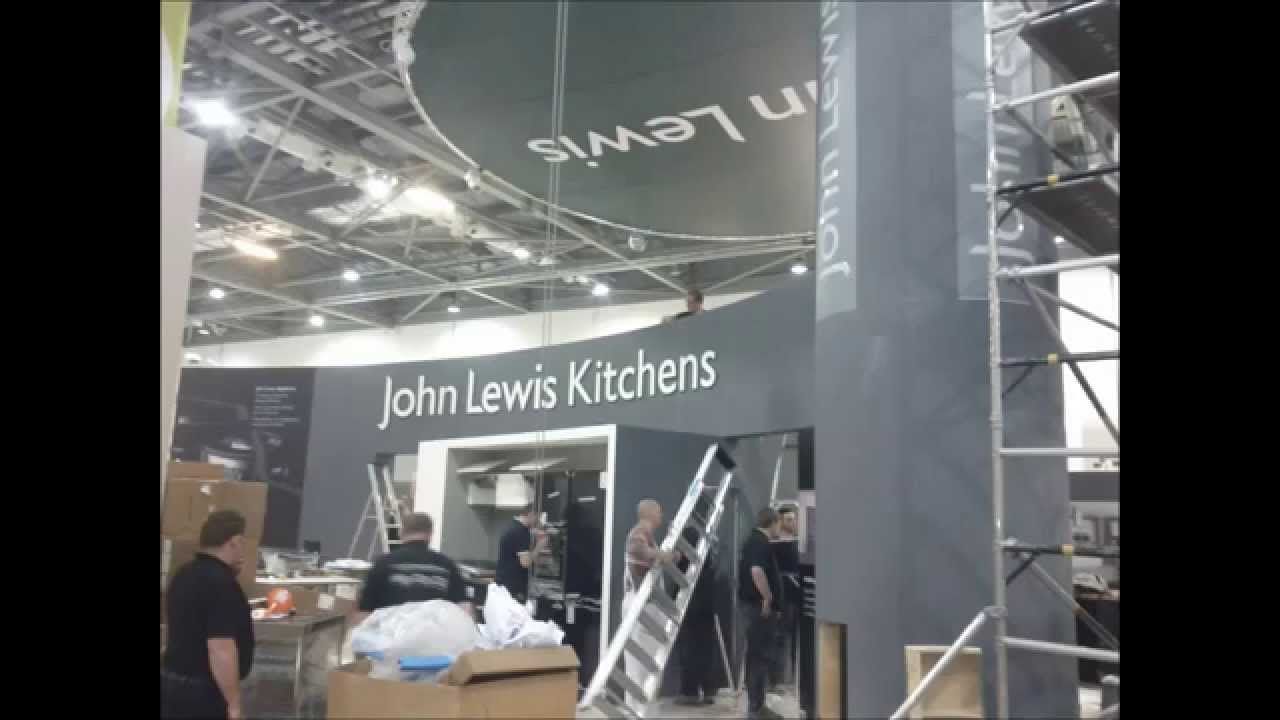Exhibition Stand Build Up : John lewis exhibition stand on site build up hd youtube