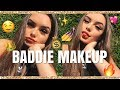 BADDIE ON A BUDGET MAKEUP TUTORIAL! | India Grace