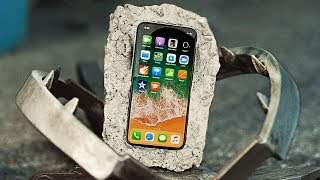 Can Cement Protect iPhone X from Bear Trap?