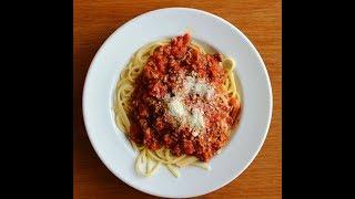 Лучший рецепт спагетти болоньезе.