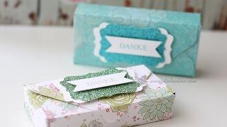 Anleitung: Schokoverpackung - erstellt mit dem Envelope Punch Board | Stampin' Up!