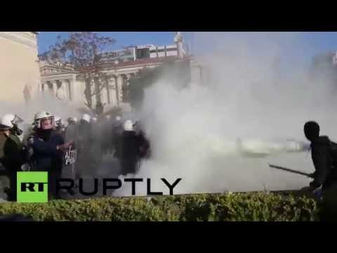 Greece: Anti-mining protesters clash with police