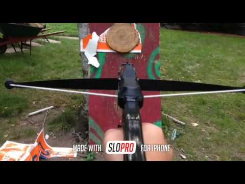 shooting a dart crossbow