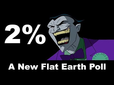 New Poll Finds Flat-Earthers ONLY 2 PERCENT Of US POP!!!