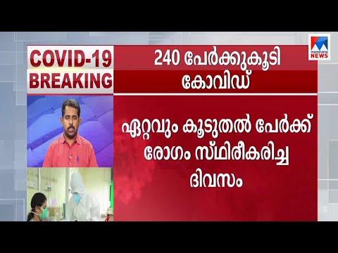 കേരളത്തില് ഇന്ന് 240 പേര്ക്ക് കോവിഡ്; ആശങ്ക വര്ധിക്കുന്നു   Kerala  Covid Status latest news