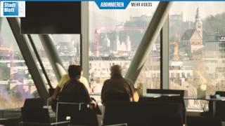 Lese-Lounge und Panoramabar eröffnet - Stadt:Bibliothek Salzburg