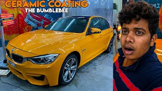 Ceramic Coating The Bumblebee (BMW 320d) at Speed Car Wash, Porur - Irfan's View