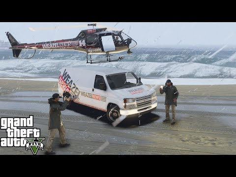 GTA 5 Live News Coverage Of Hurricane Destroying Los Santos With Rain, Flooding & High Winds