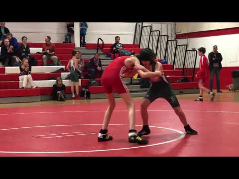 Mount View and Ellsworth at Camden-Rockport middle school wrestling