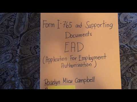 Requirements for Application for Employment Authorization (How to arrange your EAD Packet)