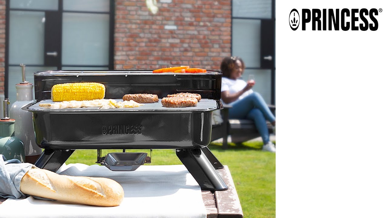Black Princess 01.112252.01.001 2000W Electric and Charcoal Hybrid Barbecue