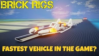 FASTEST VEHICLE IN THE GAME?!?! - Brick Rigs Creations Gameplay - EP 14