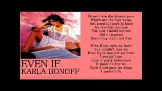 Watch Karla Bonoff Even If video