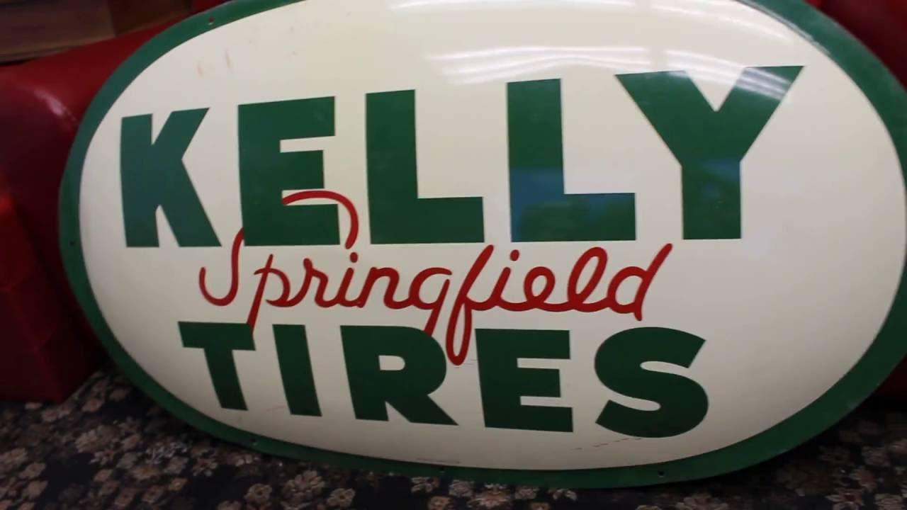 1962 NOS Kelly Springfield Tires Bubble Sign A M  Sign Co