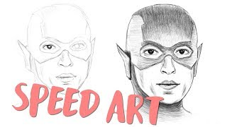 Ezra Miller as The Flash Speed Art