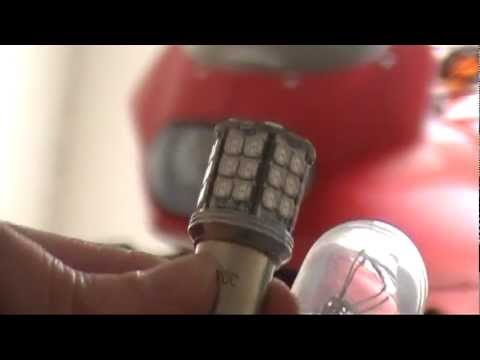 Installing LED signal lights on 20-year-old motorcycle - YouTube on