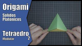 Tetraedro 2 (Modular) | Sólidos Platónicos | Origami