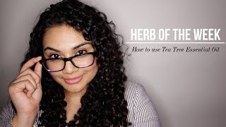 HERB OF THE WEEK: How to use Tea Tree Oil. Acne, dandruff, fungus etc. | Rebecca Dawson