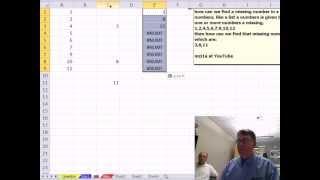 Mr Excel & excelisfun Trick 103: Find Missing Numbers In A Series