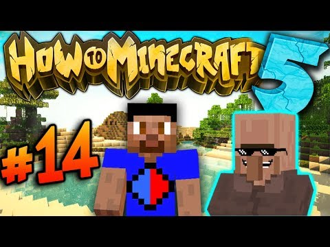 VILLAGERS... - How To Minecraft S5 #14