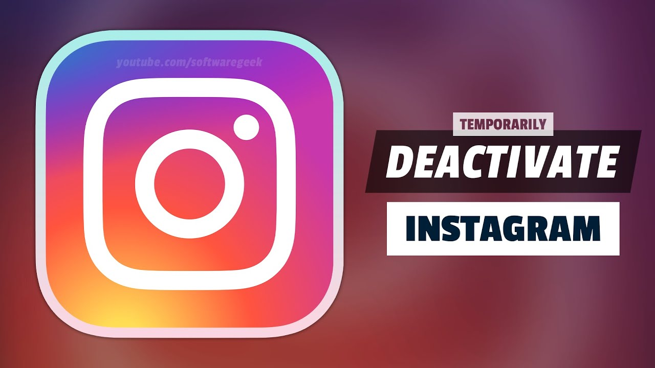 How to temporarily disable instagram account youtube how to temporarily disable instagram account ccuart Choice Image