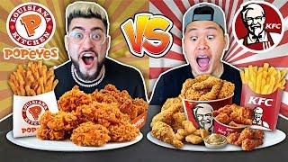KFC VS. POPEYES FOOD CHALLENGE !! (Most Popular Items on the Menu 🍗🍟) Video