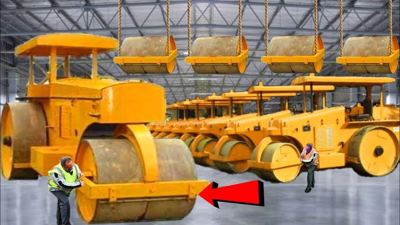 देखिए फैक्टरी में रोड रोलर ओर उसके बड़े विशाल पहिंये कैसे बनते हैं || Steel making process factory