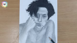 Cole Sprouse Sketch  How to draw Cole Sprouse  Timelapse !!