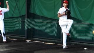 123 松田翔太投のピッチング練習です。