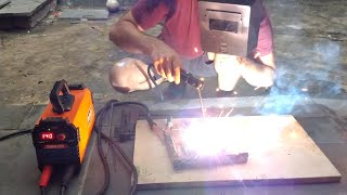 TESTE da MÁQUINA de SOLDA inversora INTECH machine  SMIB160 TIG MMA bivolts,how to weld with coated