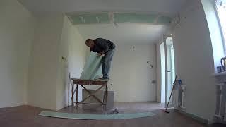 Ремонт квартиры. Гипсокартонные работы (потолок). ч1