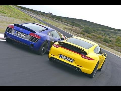 Audi R8 V10 plus vs. Porsche 911 Carrera 4S