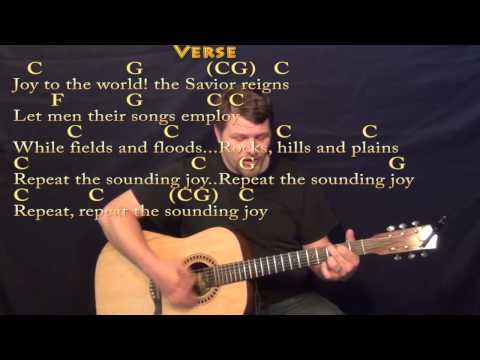 Joy to the World - Strum Guitar Cover Lesson in C with Chords/Lyrics