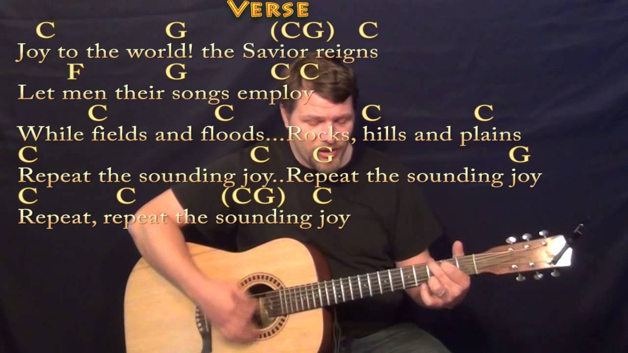 Joy To The World Strum Guitar Cover Lesson In C With Chordslyrics