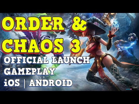 ORDER & CHAOS 3 - Gameplay FIRST LOOK! IOS | Android
