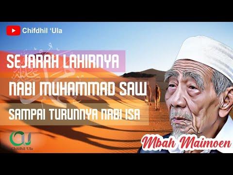 Mbah Maimoen, Lahirnya Nabi Muhammad Sampai Dengan Turunnya Nabi Isa