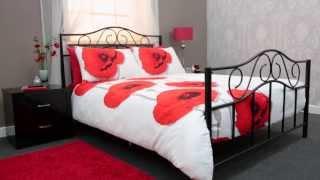 24studio - Zeta Metal Bed Range Without Mattress