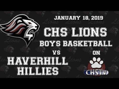 CHS Lions Boys Basketball vs Haverhill Jan 18, 2019