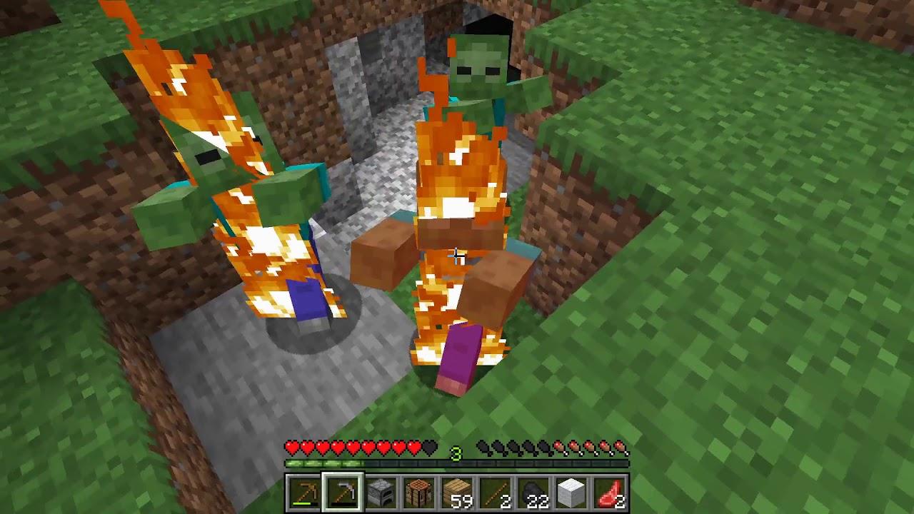 Minecraft выживание часть 1 - YouTube
