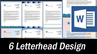 6 Letterhead designs in MS Word - Microsoft Word Tutorial Mp3