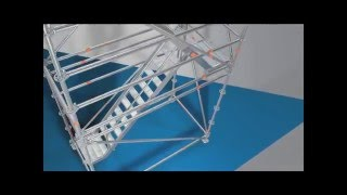Layher Modular Scaffolding Stairway Tower - Safer and faster