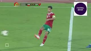 Maroc Comores Goals Highlights 13 10 2018ملخص مباراة المغرب و جزر القمر 1-0- هدف قاتل