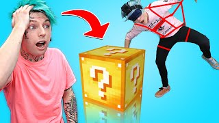 HUMAN CLAW MACHINE AND DIY ARCADE GAMES AT HOME WITH ROBBY (WITH MINECRAFT MYSTERY BOX PRIZE)