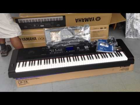 Kris Nicholson Unboxing his New YAMAHA DGX 650B Portable Grand piano
