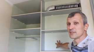 Как сделать раздвижную систему для дверей встроенного шкафа купе.(Часть 1)(Эконом вариант шкафа купе.Недорогая раздвижная система для дверей из ДСП шкафа купе., 2014-09-29T14:52:43.000Z)