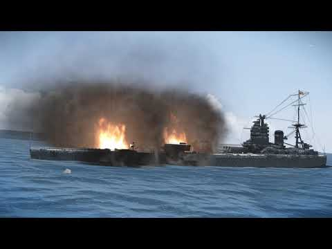 The Slow Burning Sinking Of The HMS Nelson On Silent Hunter 5 With TWOS Mod |
